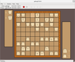gshogi screenshot with western pieces